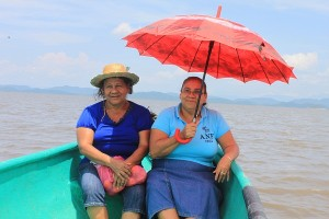 Pastor's wife and fisherman's wife that went with us to Chira Island to look for ministry contacts and opportunities